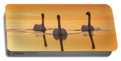 Trumpeter Swans Cygnus Buccinator Portable Battery Charger