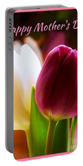 2 Tulips For Mother's Day Portable Battery Charger