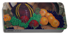 Portable Battery Charger featuring the painting Tuscany Treats by Sharon Duguay