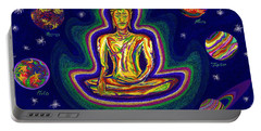 United Planets Of Buddha Portable Battery Charger by Robert SORENSEN