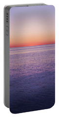 View Of Ocean At Sunset, Cape Cod Portable Battery Charger