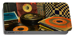 Vintage Vinyl Portable Battery Charger by Paul Ward