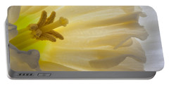 White Daffodil  Portable Battery Charger