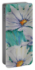Wild Daisys Portable Battery Charger by Chrisann Ellis