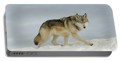 Wolf In Winter Portable Battery Charger