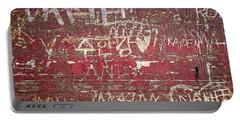 Wood Graffiti Portable Battery Charger