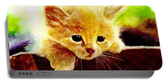 Yellow Kitten Portable Battery Charger