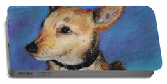 Portable Battery Charger featuring the painting Zack by Jeanne Fischer