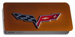 2007 Chevrolet Corvette Indy Pace Car Emblem Portable Battery Charger