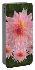 Abstract Flower Floral Photography And Digital Painting Combination Mixed Media By Navinjoshi       Portable Battery Charger