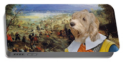 Petit Basset Griffon Vendeen Art Canvas Print  Portable Battery Charger by Sandra Sij