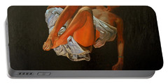 Portable Battery Charger featuring the painting 3 30 Am by Thu Nguyen