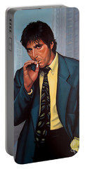 Al Pacino 2 Portable Battery Charger by Paul Meijering
