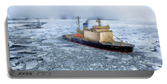 Portable Battery Charger featuring the photograph Arctic Sea Ocean Water Antarctica Winter Snow by Paul Fearn