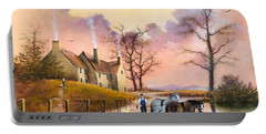Portable Battery Charger featuring the painting Autumn Gold by Ken Wood