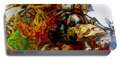 Portable Battery Charger featuring the painting Battle Of Grunwald by Henryk Gorecki