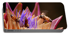 Bees In The Artichoke Portable Battery Charger