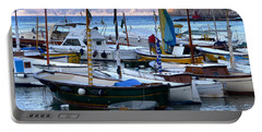 Portable Battery Charger featuring the photograph Boats In The Harbor by Mike Ste Marie
