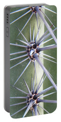 Portable Battery Charger featuring the photograph Cactus Thorns by Deb Halloran