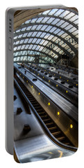 Canary Wharf Station Portable Battery Charger by David Pyatt