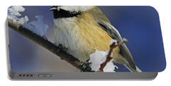 Winter Chickadee... Portable Battery Charger by Nina Stavlund