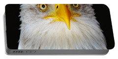 Closeup Portrait Of An American Bald Eagle Portable Battery Charger