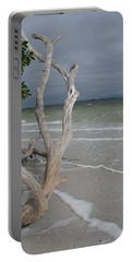 Driftwood On The Beach Portable Battery Charger by Christiane Schulze Art And Photography