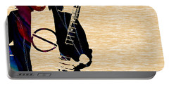 Eddie Van Halen Collection Portable Battery Charger by Marvin Blaine