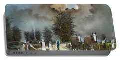 Portable Battery Charger featuring the painting End Of The Day by Ken Wood