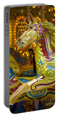 Portable Battery Charger featuring the photograph Fairground Carousel by Lee Avison