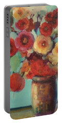 Floral Painting Portable Battery Charger