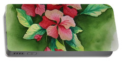 Geraniums Portable Battery Charger