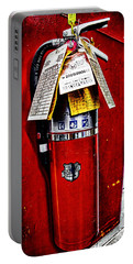 Grungy Fire Extinguisher Portable Battery Charger