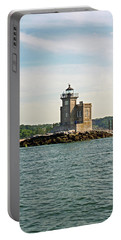 Portable Battery Charger featuring the photograph Huntington Lighthouse by Karen Silvestri