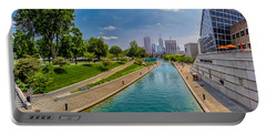 Indianapolis Skyline From The Canal Portable Battery Charger