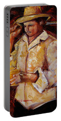 Portable Battery Charger featuring the painting Jibaro De La Costa by Oscar Ortiz