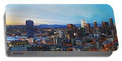 Los Angeles Skyline Portable Battery Charger by Kelley King