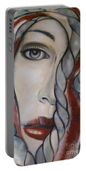 Portable Battery Charger featuring the painting Melancholy 090409 by Selena Boron