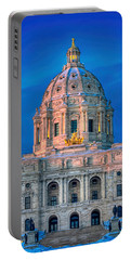 Minnesota State Capitol St Paul Portable Battery Charger by Amanda Stadther