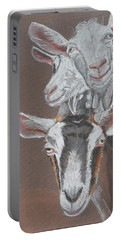 3 Nosey Goats Portable Battery Charger