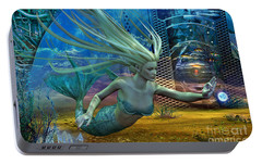 Portable Battery Charger featuring the digital art Of Myths And Legends by Shadowlea Is