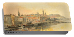 Old Warsaw - Wisla River Portable Battery Charger