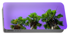 Portable Battery Charger featuring the photograph 3 Palms by J Anthony