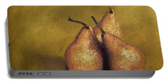 3 Pear Study Portable Battery Charger by Marna Edwards Flavell