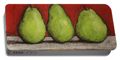 3 Pears Portable Battery Charger by Marna Edwards Flavell