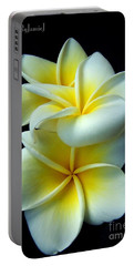 3 Plumerias Portable Battery Charger