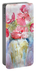 Portable Battery Charger featuring the painting Poppies by Jasna Dragun