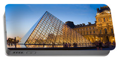 Pyramid In Front Of A Museum, Louvre Portable Battery Charger by Panoramic Images