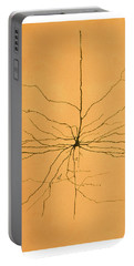 Pyramidal Cell In Cerebral Cortex, Cajal Portable Battery Charger by Science Source