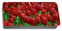 Portable Battery Charger featuring the photograph Red Tulips  by Allen Beatty